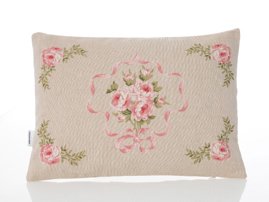 Pink Roses Goblen Dolgusuz Kırlent 35x50 Cm Açık Pembe