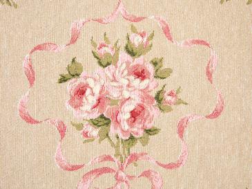 Pink Roses Goblen Dolgusuz Kırlent Kılıfı 35x50 Cm Açık Pembe