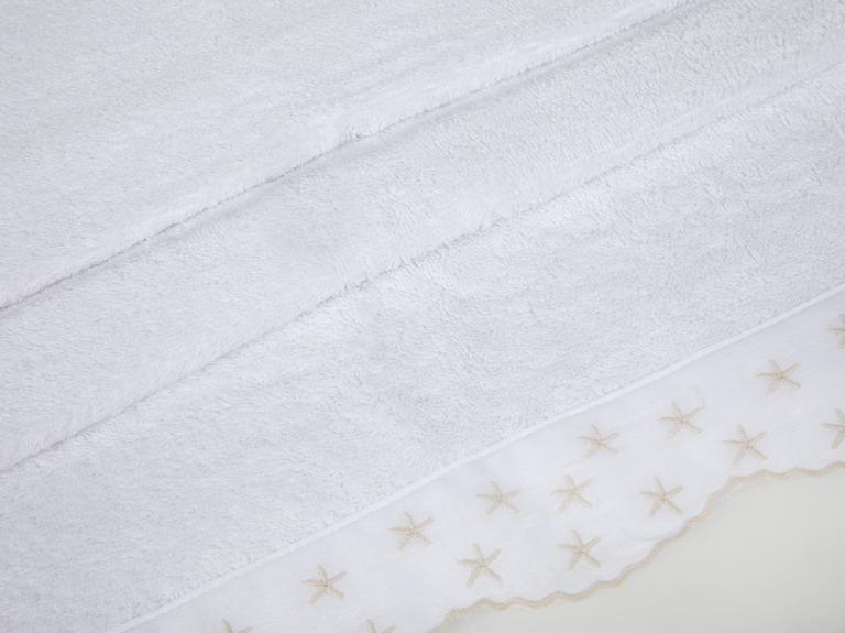 Seastars Nakışlı Yüz Havlusu 50x80 Cm Beyaz
