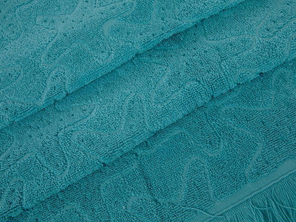 Seastar Little Jakarlı Yüz Havlusu 50x80 Cm Yeşil