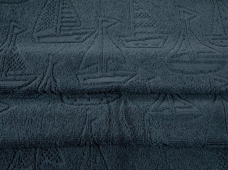 Ocean Race Jakarlı Yüz Havlusu 50x80 Cm Lacivert