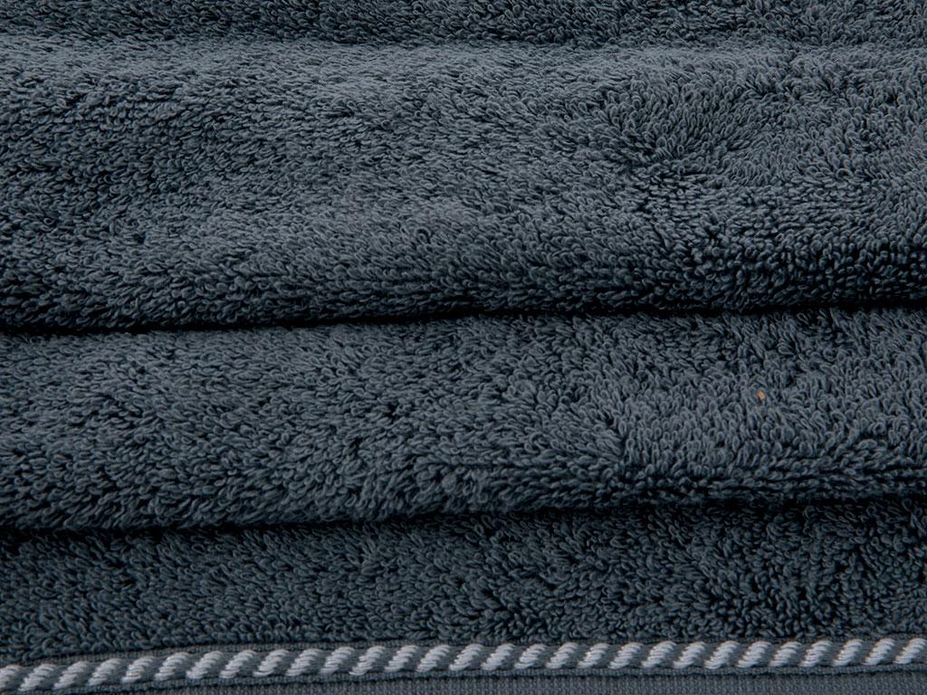 Ocean Stripe Jakarlı El Havlusu 30x45 Cm Lacivert