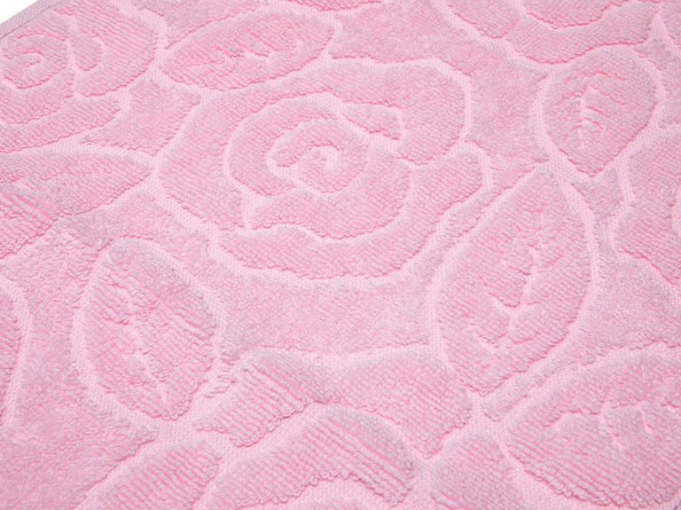 Rosy Rose Jakarlı Saçaklı El Havlusu 30x45 Cm Açık Pembe