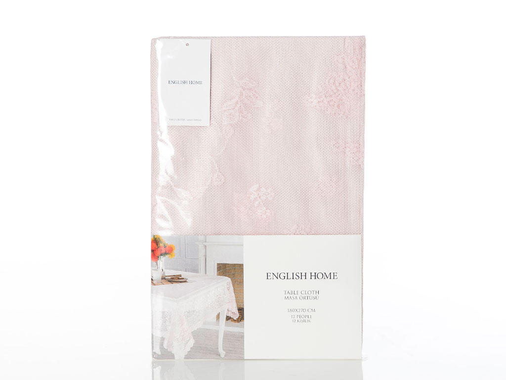 Rosy Rain Örme Masa Örtüsü 180x270 Cm Pembe