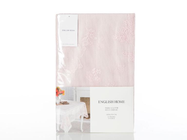 Rosy Rain Örme Masa Örtüsü 145x220 Cm Pembe