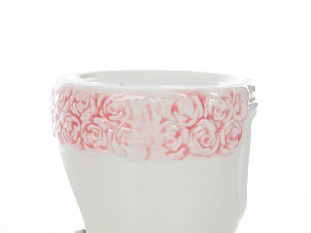 Fancy Roses Porselen Mumluk 14,3x14,3x11,5 Cm Beyaz