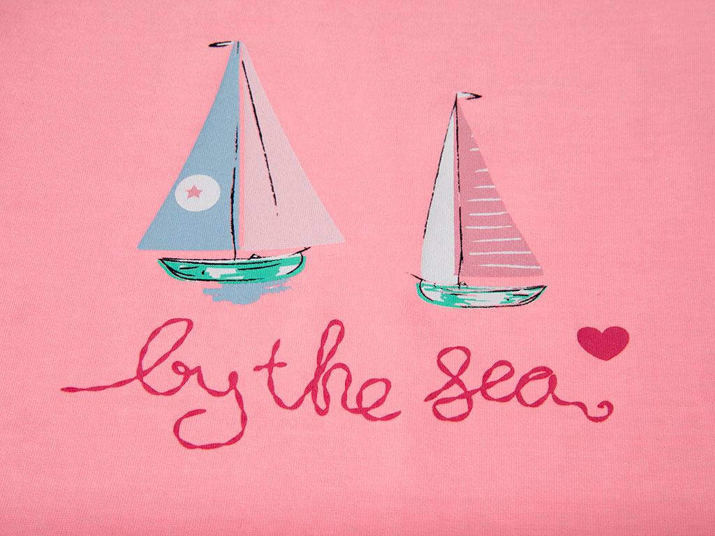 Sail Pamuklu Kız Çocuk Çocuk Pıjama Takımı 7-8 Yaş Pembe