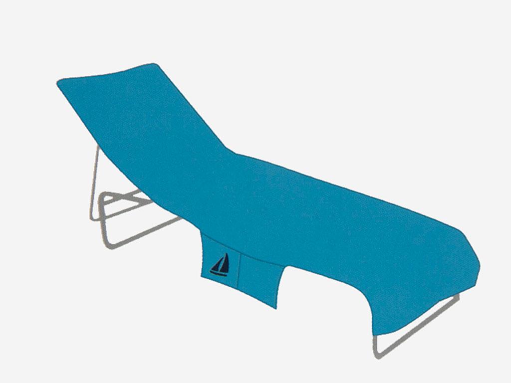 Summer Time Nakışlı Şezlong Havlusu 70x190 Cm Mavi