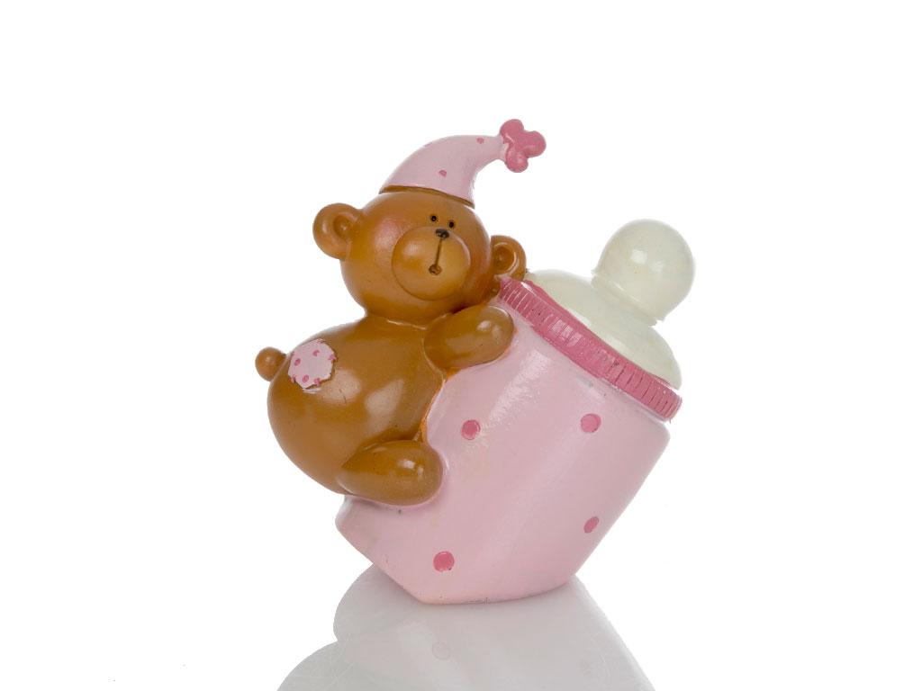 Teddy Bear Biblo 10x7,5x10,5 Cm Pembe