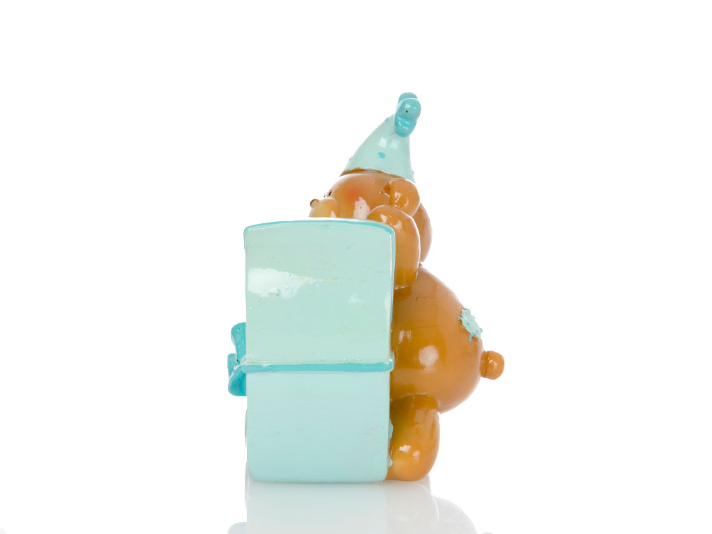 Teddy Bear Biblo 10x7,5x10,5 Cm Mavi