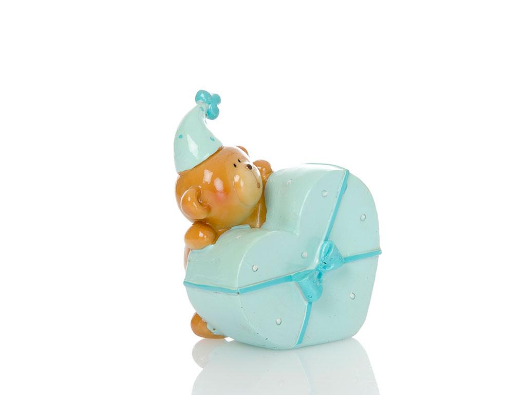 Teddy Bear Bıblo 10x7,5x10,5 Cm Mavi