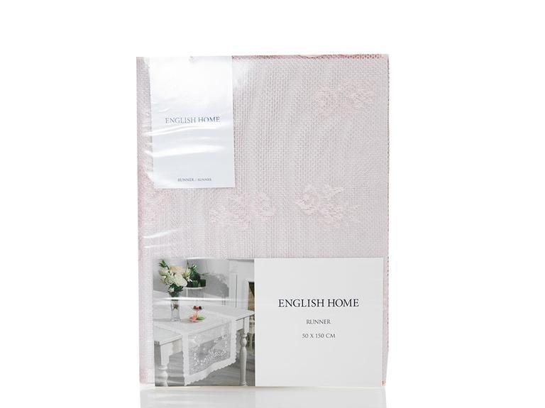 Fancy Roses Örme Runner 50x150 Cm Pembe
