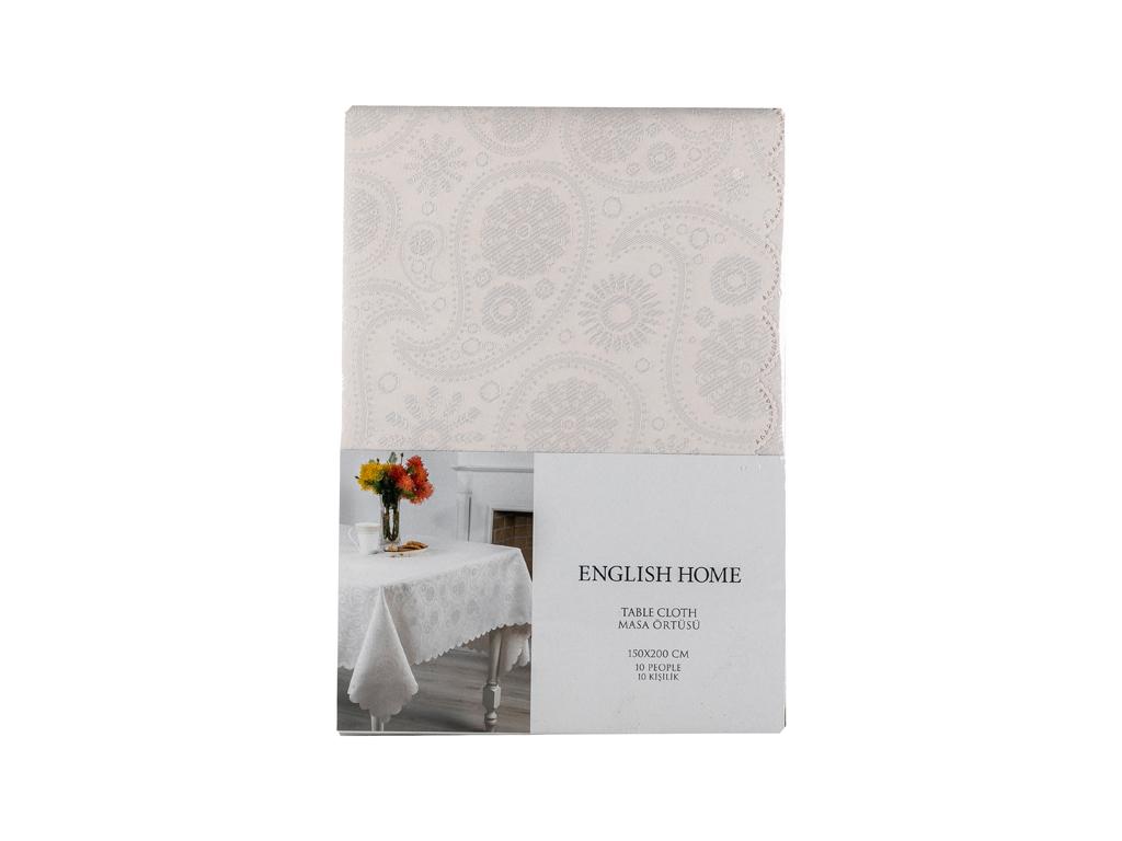 Paisley Masa Örtüsü 150x200 Cm Taş Rengi