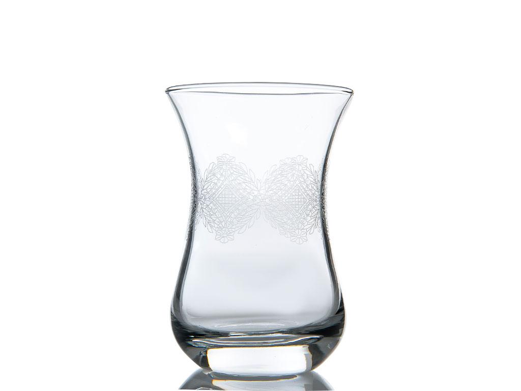 Violet Cam 6'lı Çay Bardağı 115 Cc Şeffaf