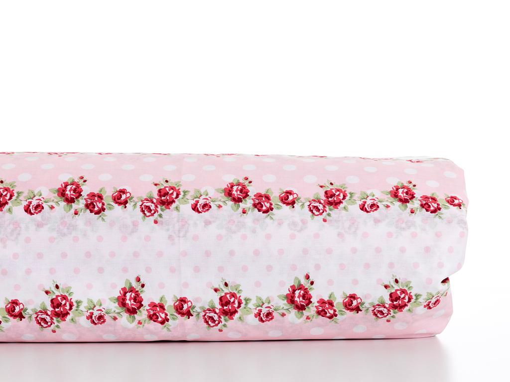 Allure Rosa Pamuklu Tek Kişilik Nevresim 160x220 Cm Kırmızı
