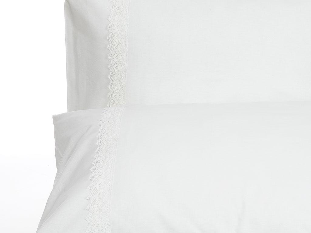 Elishie Kopanakili 2'li Yastık Kılıfı 50x70 Cm Beyaz