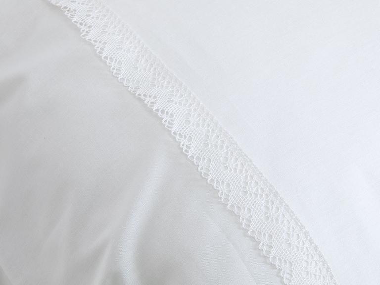 Morisa Kopanakili 2'li Yastık Kılıfı 50x70 Cm Beyaz