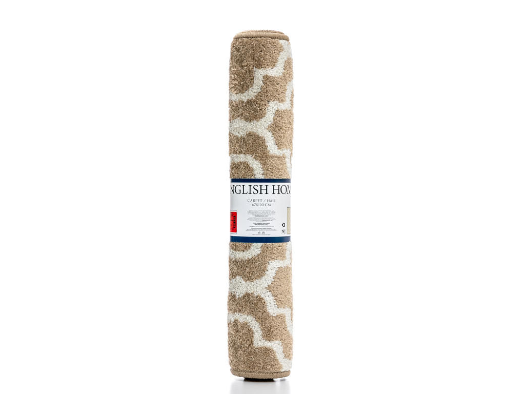 Lace Stripes Polyolefin Halı 67x120 Cm Pembe - Beyaz