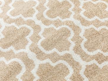 Lace Stripes Polyolefin Halı 100x150 Cm Kahverengi - Beyaz