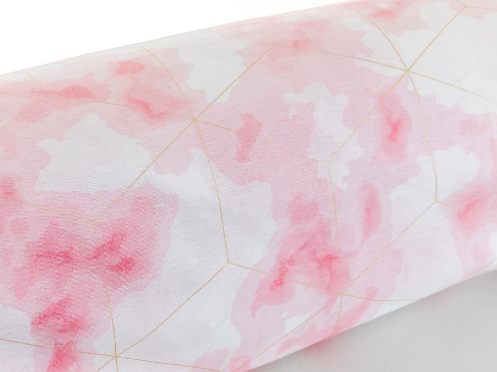 Fancy Marble Pamuklu Tek Kişilik Nevresım 160x220 Cm Pembe