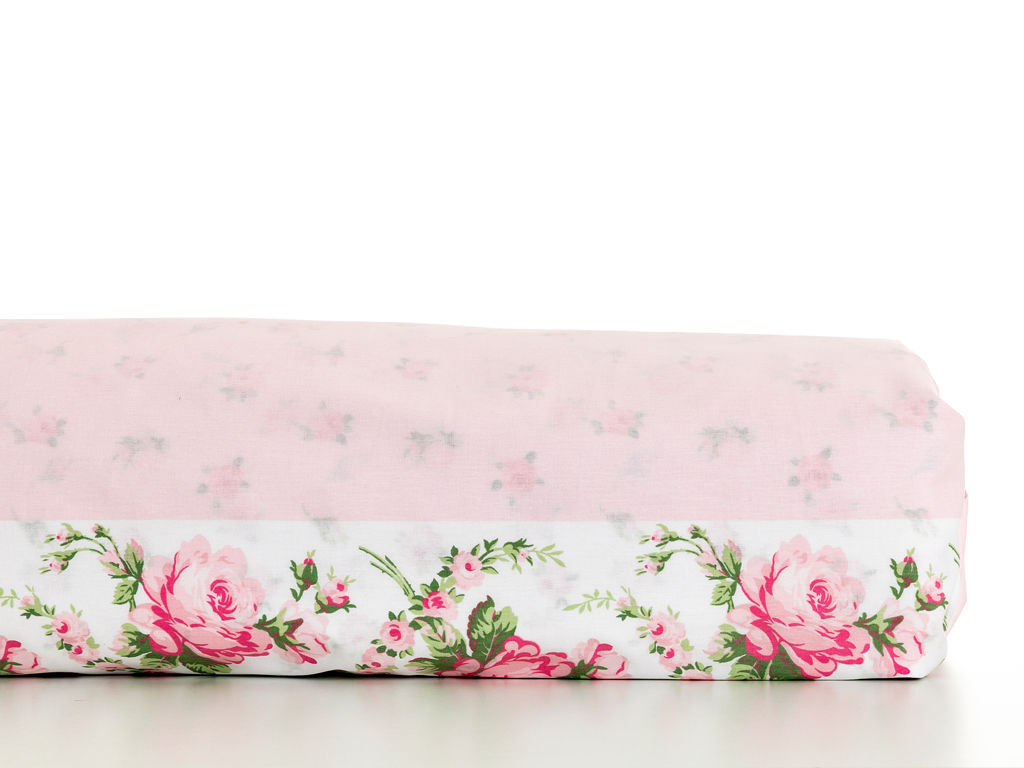 Rose Coquette Pamuklu Tek Kişilik Nevresim 160x220 Cm Pembe