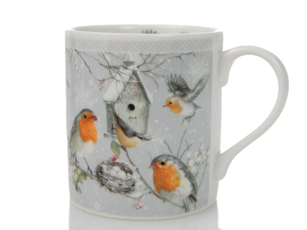 Bird Love Porselen Kupa 12x8,6 Cm Beyaz