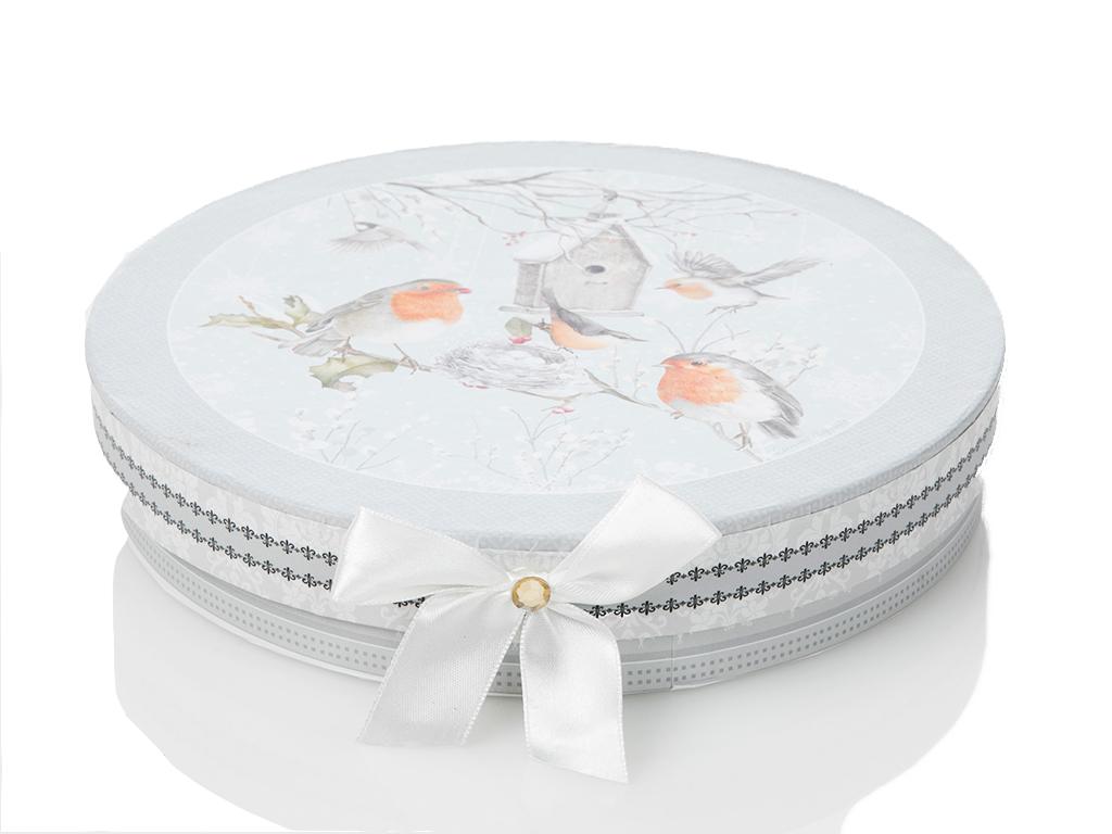 Bird Love Porselen 2'li Pasta Tabağı 20,3x3,9 Cm Beyaz