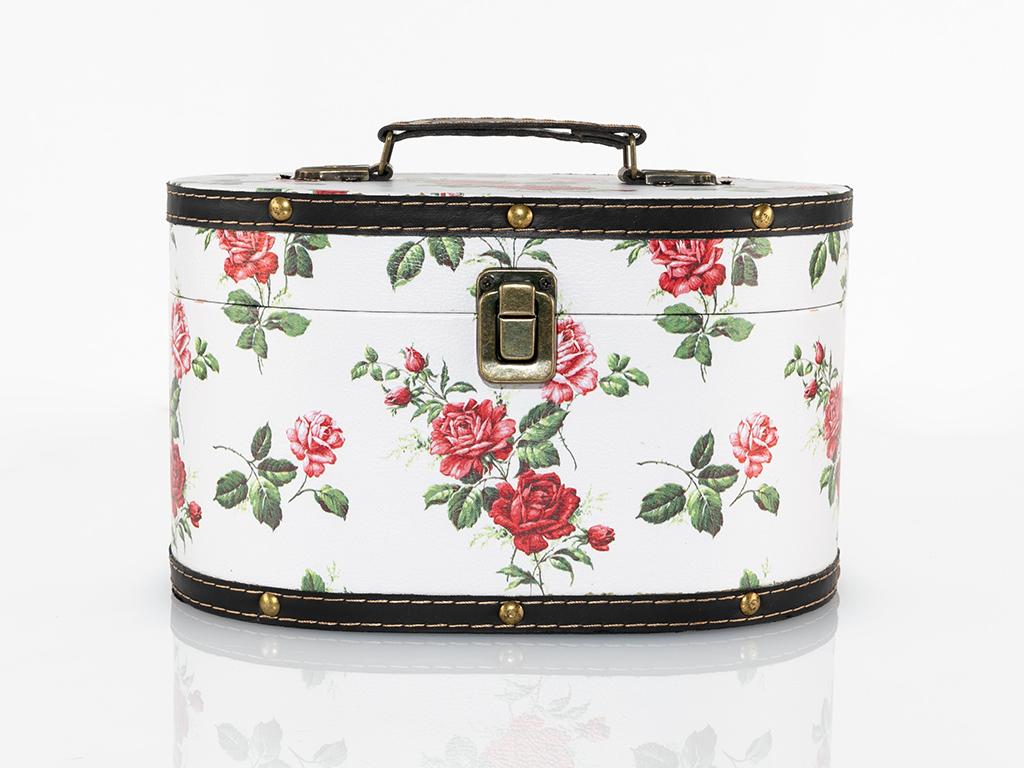 Glam Rose Mdf Dekoratıf Kutu 25,5x16,5x15 Cm Kırmızı
