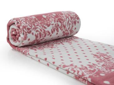 Allure Rosa Pamuklu Tek Kişilik Battaniye 150x200 Cm Gül Kurusu