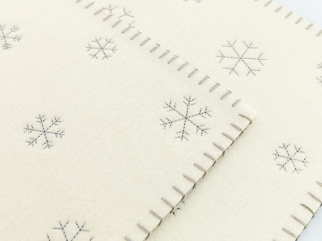 Let İt Snow Keçe 2'li Amerıkan Servıs 30x45 Cm Açık Gri