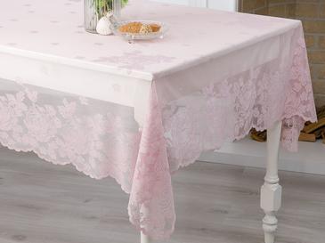 Glam Rose Örme Masa Örtüsü 180x270 Cm Gül Kurusu