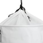 Glam Pvc Ağzı Büzgülü Çamaşır Sepetı 40x45 Cm Beyaz