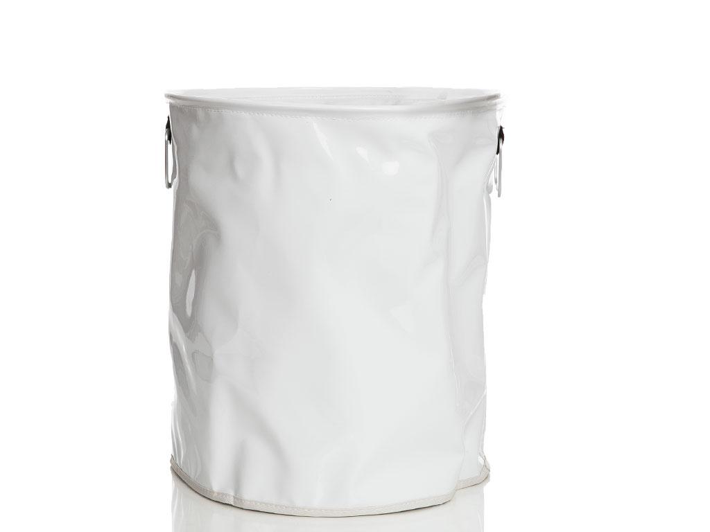 Glam Pvc Ağzı Büzgülü Çamaşır Sepetı 32x36 Cm Beyaz
