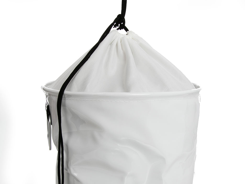 Glam Pvc Ağzı Büzgülü Çamaşır Sepeti 32x36 Cm Beyaz