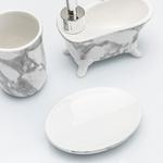 Modest Dolomite Banyo Setı 14.2*7*13 Cm Beyaz