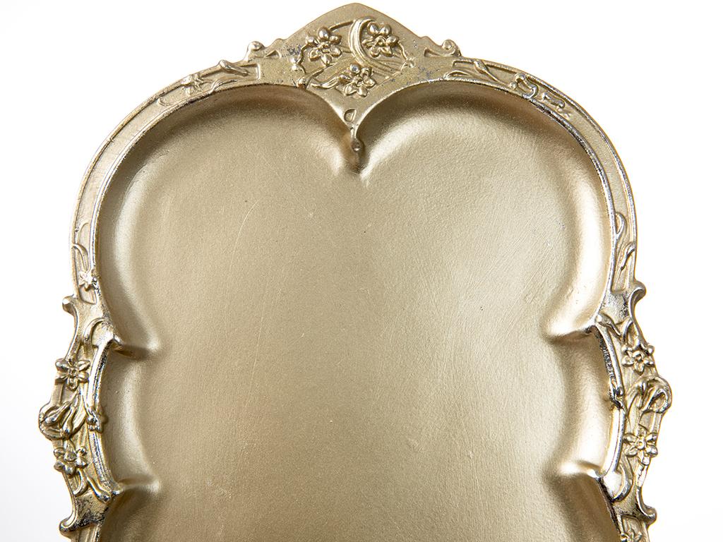 Hira Polyresin Dekoratif Tabak 24x1.6x18 Gold