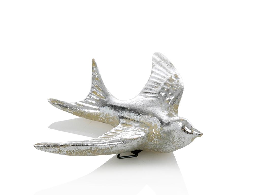 Birdy Polyresin Tablo 14x4x16.8 Gümüş