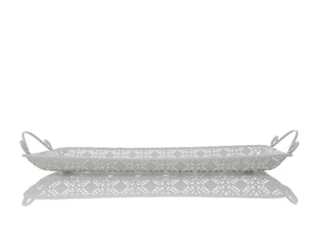 Aris Metal Dikdörtgen Tepsı 35x23 Cm Beyaz