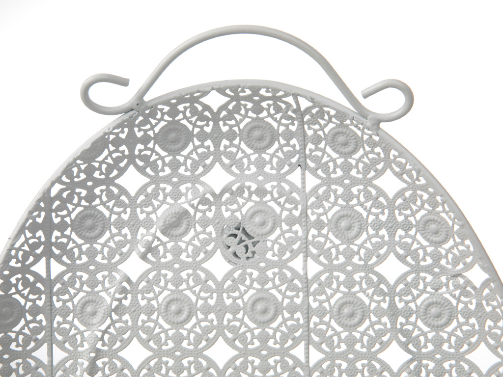 Anna Metal Oval Tepsı 40x26 Cm Beyaz