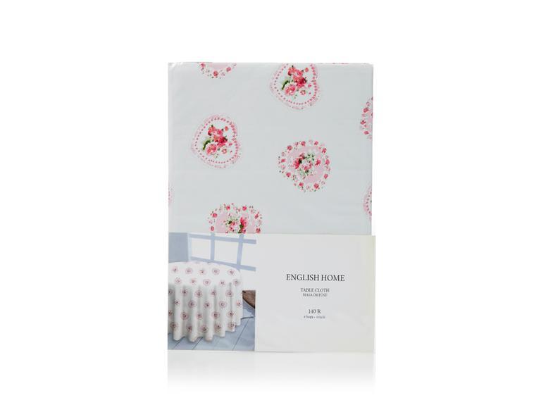Rose Passion Pvc Masa Örtüsü 140 Cm Beyaz - Pembe