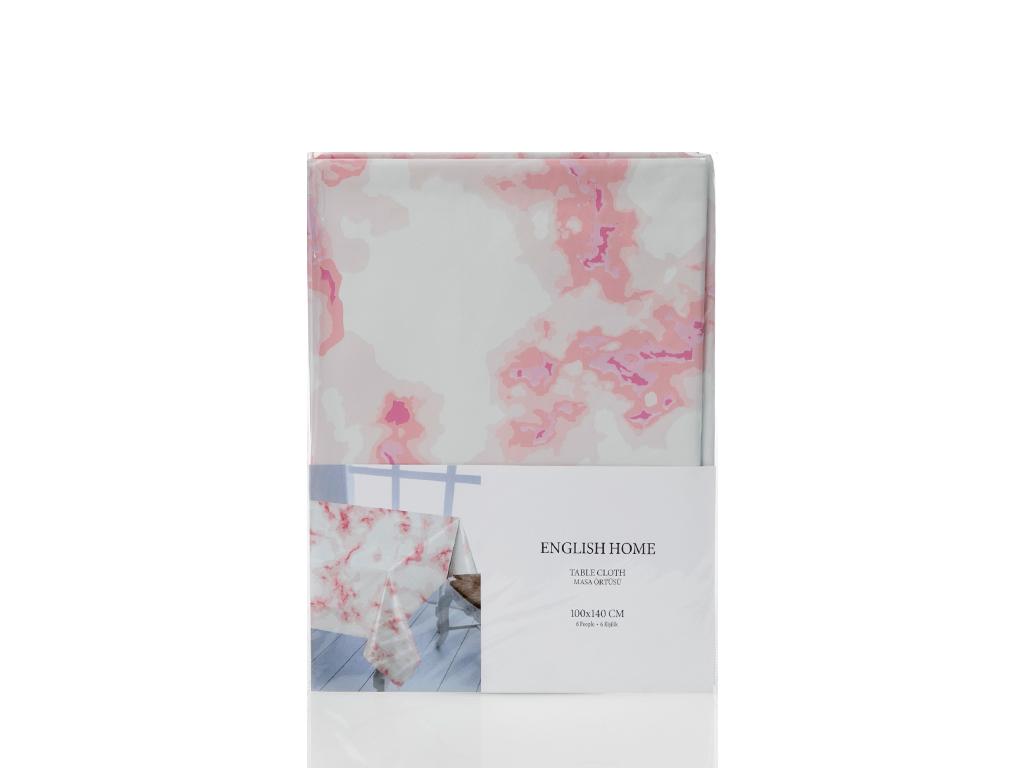 Fancy Marble Pvc Masa Örtüsü 200x140 Cm Pembe