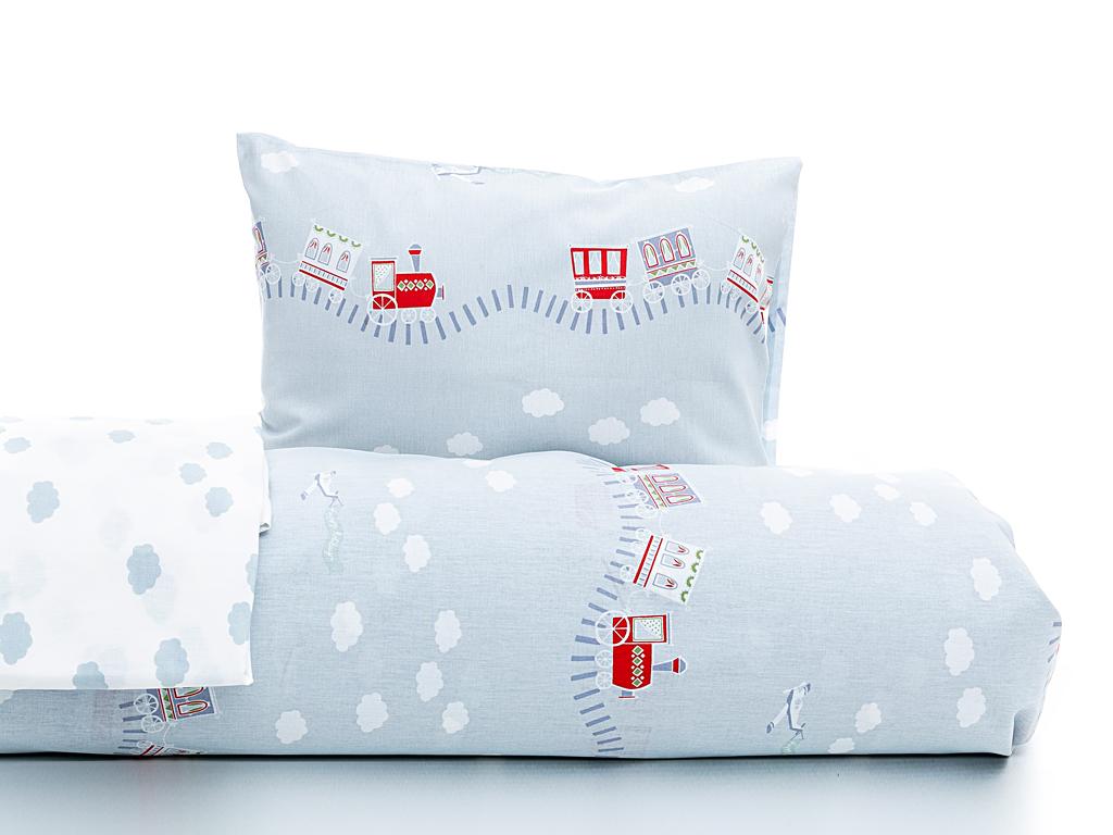 Happy Holiday Pamuklu Bebe Nevresim Takımı 100x150 Cm Mavi