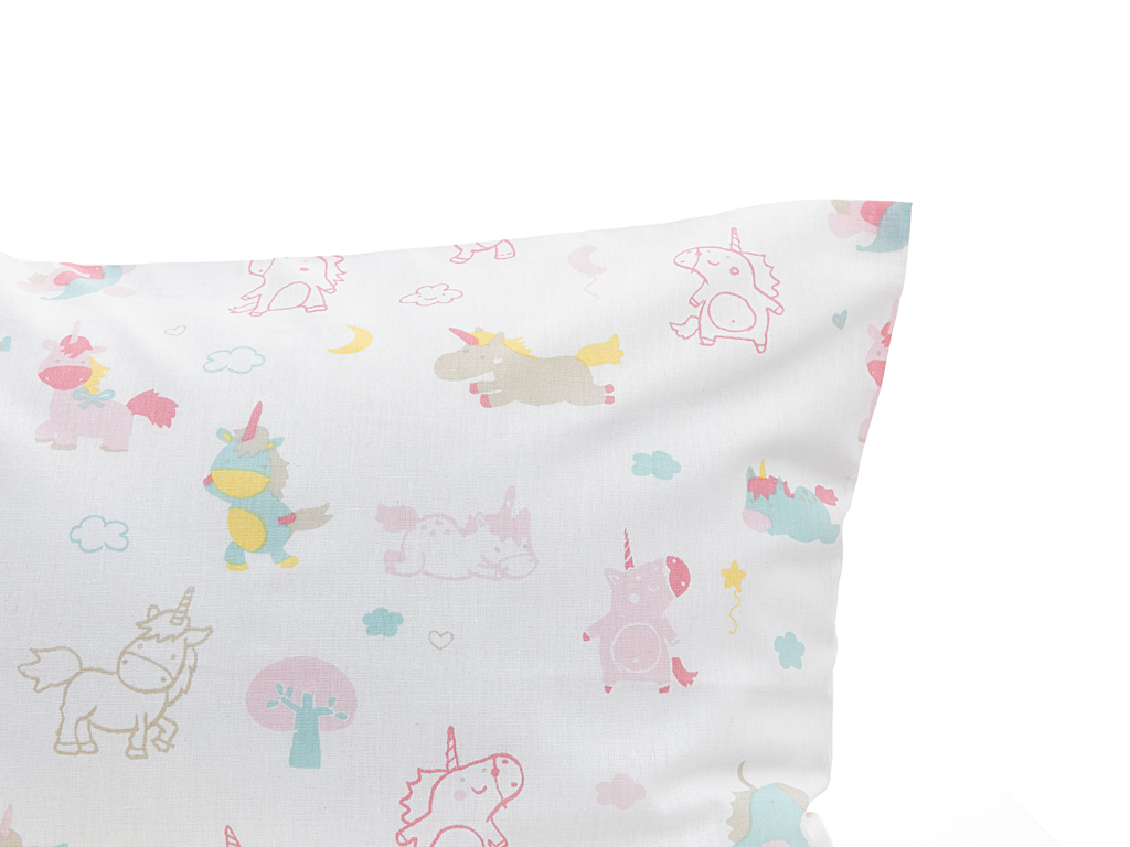 Little Unicorns Pamuklu Bebe Nevresim Takımı 100x150 Cm Pembe