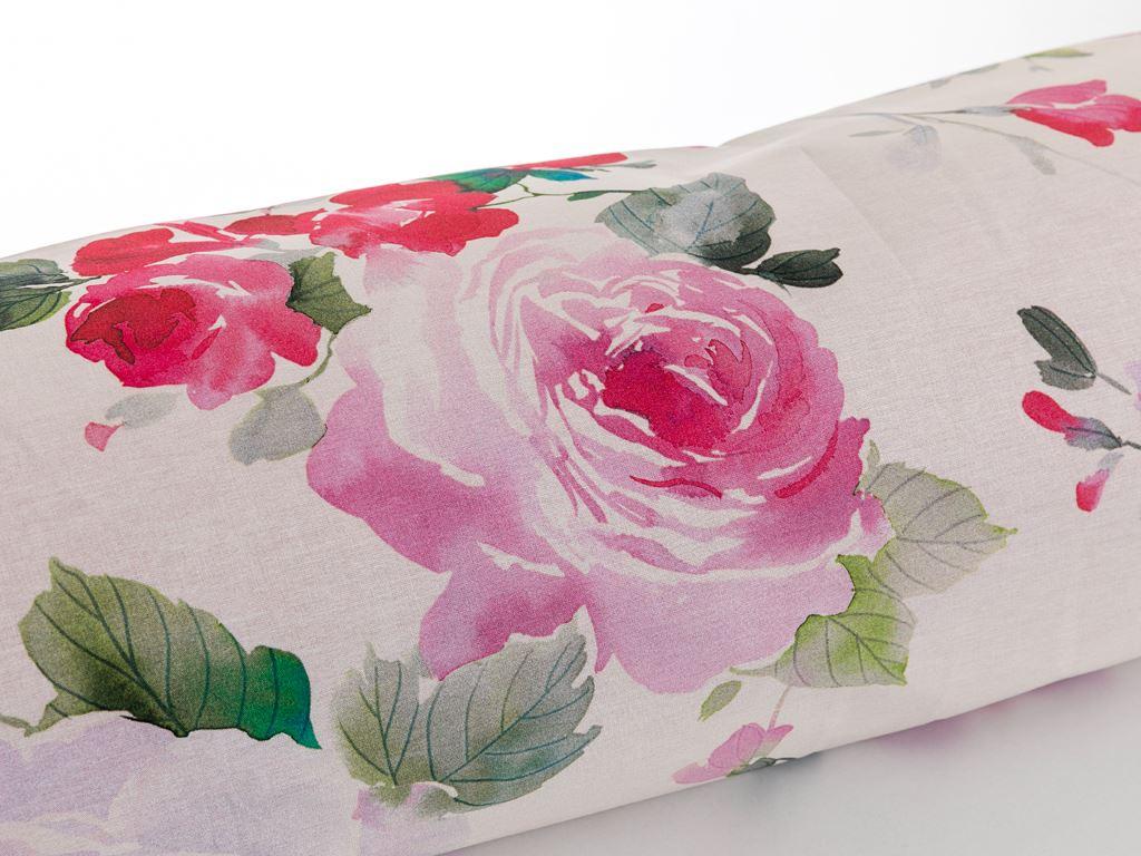 Flower Art Pamuklu Tek Kişilik Nevresım 160x220 Cm Pembe