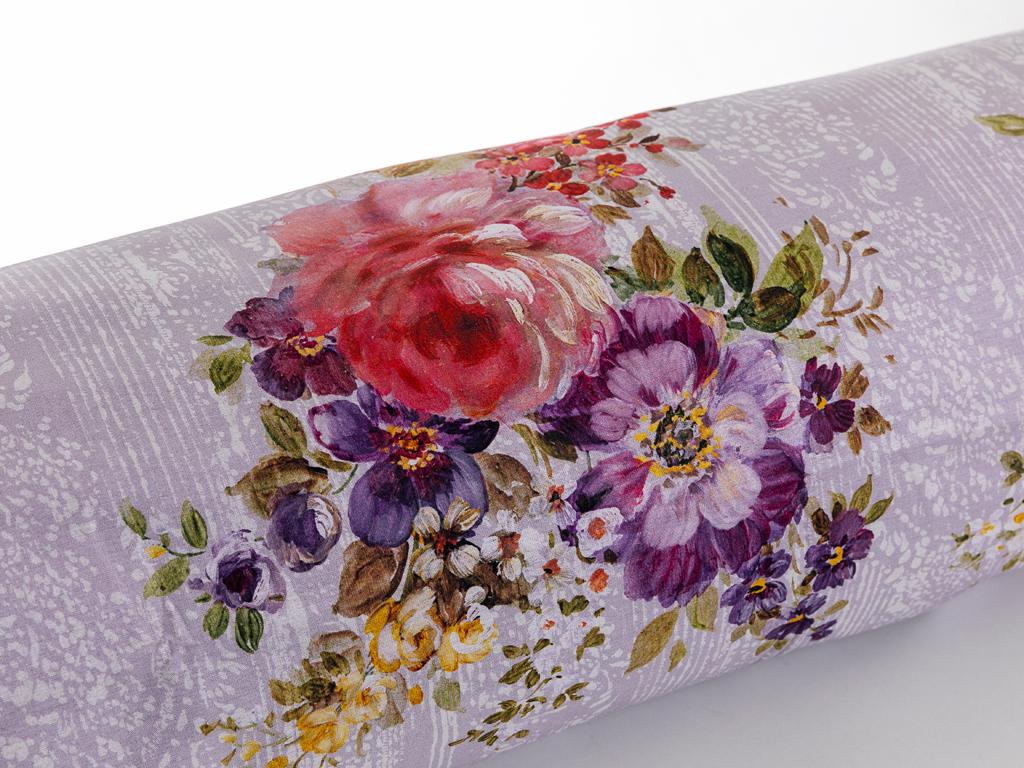Luxury Roses Pamuklu Çift Kişilik Nevresim 200x220 Cm Mürdüm