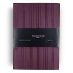 Glam Stripe Çizgili Pamuk Saten Çift Kişilik Nevresım Takımı 200x220 Cm Mürdüm