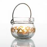 Emerald Gold Cam Mumluk 7x7x6 Cm Şeffaf