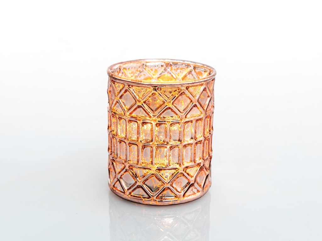 Tiara Cam Mumluk 7,5x7,5x8,5 Cm Gold