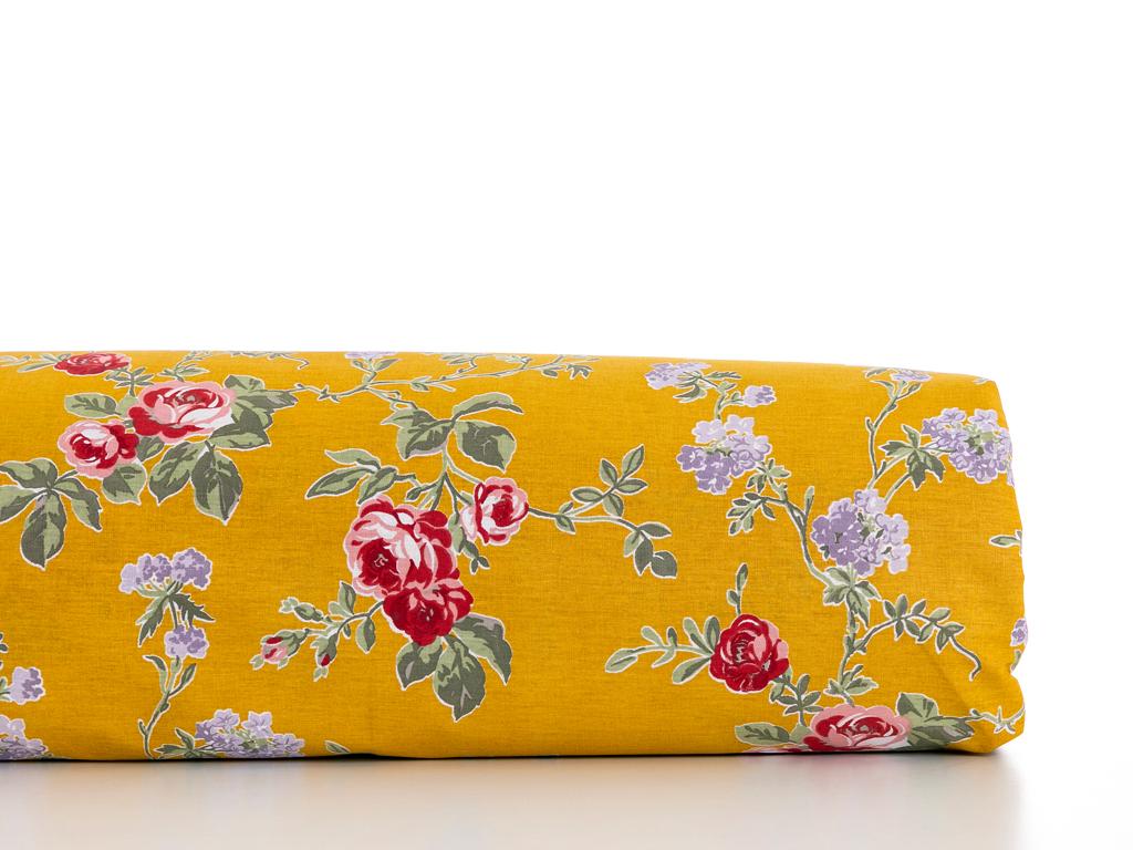 Rose Viva Pamuklu Tek Kişilik Nevresım 160x220 Cm Koyu Sarı
