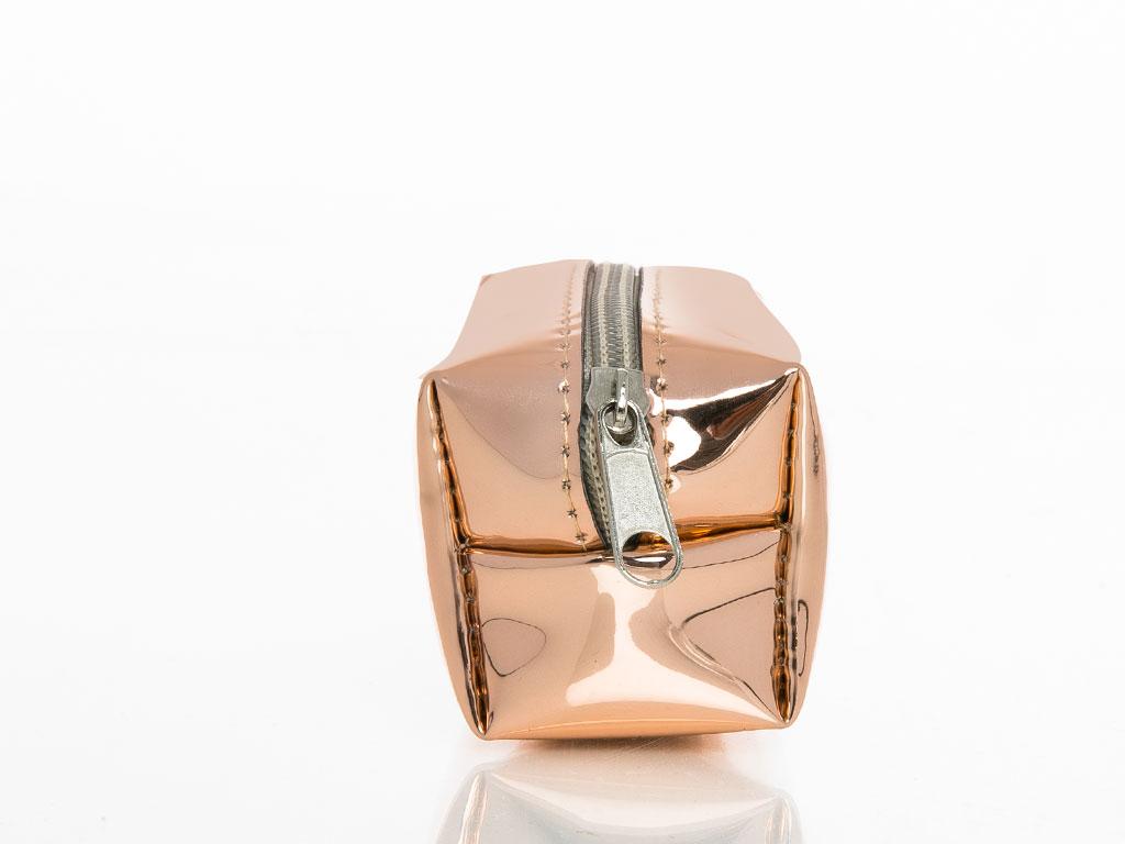Shiny Bozuk Para Cuzdanı 9x7,5 Cm Pembe Altın
